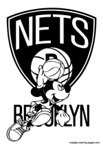 Brooklyn Nets Mickey Mouse coloring pages