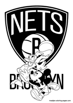 Brooklyn Nets Disney coloring pages