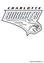 Charlotte Bobcats logo coloring pages