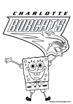 Charlotte Bobcats Spongebob coloring pages
