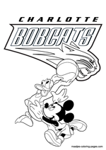 Charlotte Bobcats Disney coloring pages