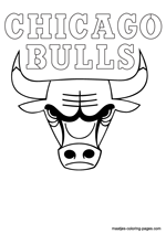 Chicago Bulls logo coloring pages