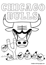 Chicago Bulls Angry Birds coloring pages