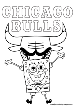 Chicago Bulls Spongebob coloring pages