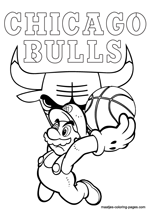 Chicago Bulls Super Mario coloring pages