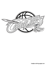 Cleveland Cavaliers logo coloring pages