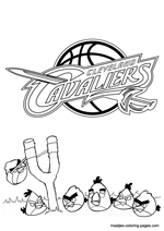 Cleveland Cavaliers Angry Birds coloring pages