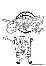 Cleveland Cavaliers Spongebob coloring pages