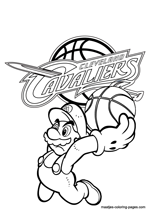 Cleveland Cavaliers Super Mario coloring pages
