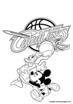 Cleveland Cavaliers Disney coloring pages