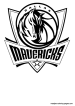 Dallas Mavericks logo coloring pages