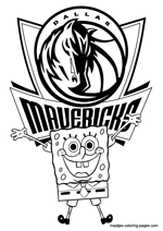 Dallas Mavericks Spongebob coloring pages