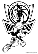 Dallas Mavericks Mickey Mouse coloring pages