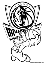 Dallas Mavericks Super Mario coloring pages