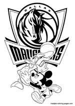 Dallas Mavericks Disney coloring pages