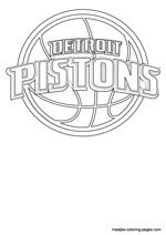 Detroit Pistons logo coloring pages