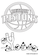 Detroit Pistons Angry Birds coloring pages