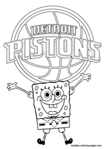 Detroit Pistons Spongebob coloring pages