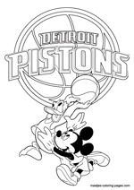 Detroit Pistons Disney coloring pages