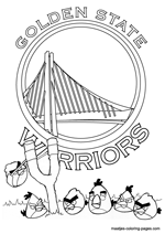 Golden State Warriors Angry Birds coloring pages