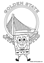 Golden State Warriors Spongebob coloring pages