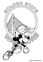 Golden State Warriors Mickey Mouse coloring pages