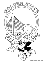 Golden State Warriors Disney coloring pages