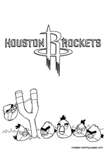 Houston Rockets Angry Birds coloring pages