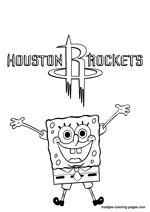 Houston Rockets Spongebob coloring pages