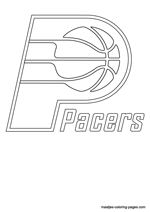 Indiana Pacers logo coloring pages
