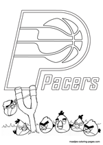 Indiana Pacers Angry Birds coloring pages