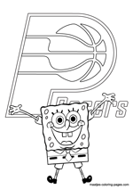 Indiana Pacers Spongebob coloring pages