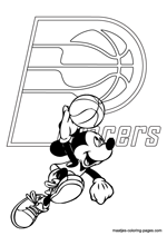 Indiana Pacers Mickey Mouse coloring pages