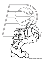 Indiana Pacers Super Mario coloring pages