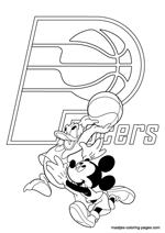 Indiana Pacers Disney coloring pages