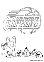 Los Angeles Clippers Angry Birds coloring pages