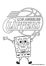 Los Angeles Clippers Spongebob coloring pages