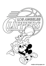 Los Angeles Clippers Disney coloring pages