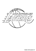 Los Angeles Lakers logo coloring pages