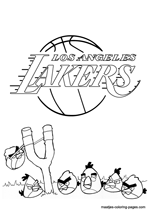 Los Angeles Lakers Angry Birds coloring pages