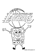 Los Angeles Lakers Spongebob coloring pages