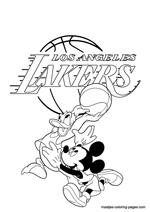 Los Angeles Lakers Disney coloring pages