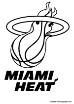 Miami Heat logo coloring pages