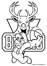 Milwaukee Bucks Super Mario coloring pages