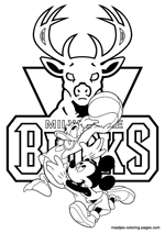 Milwaukee Bucks Disney coloring pages