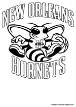 New Orleans Hornets logo coloring pages