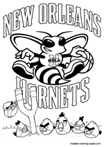 New Orleans Hornets Angry Birds coloring pages