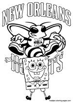 New Orleans Hornets Spongebob coloring pages