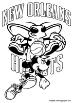 New Orleans Hornets Mickey Mouse coloring pages