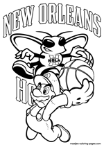 New Orleans Hornets Super Mario coloring pages